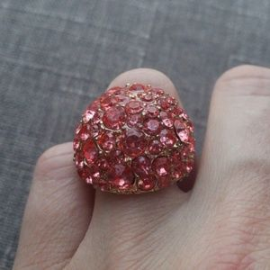 Pink Bulky Stone Ring